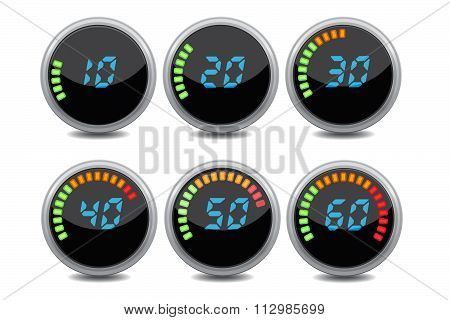 Colorful Stopwatches Digital