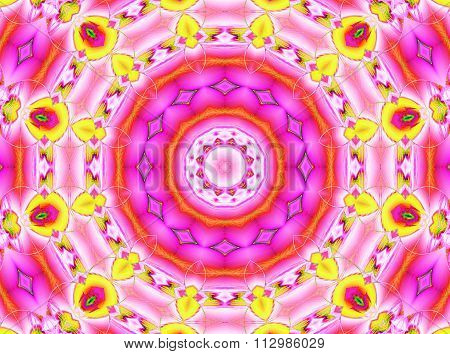Seamless ornament pink violet yellow