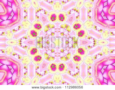 Seamless ornaments pink violet yellow