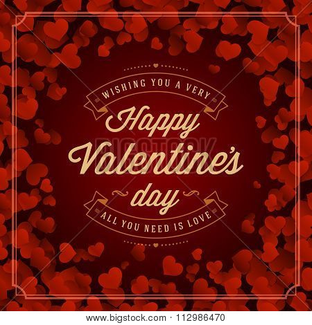 Valentine's Day greeting card or poster vector illustration
