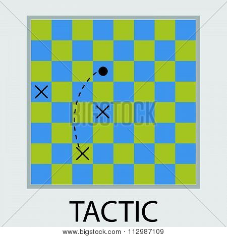 Tactic icon flat design
