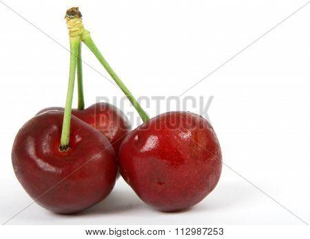 Summer Fruit Salad Ingredients, Red Cherries On Stalks