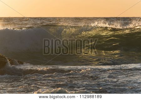 Sunrise Wave With Back Light