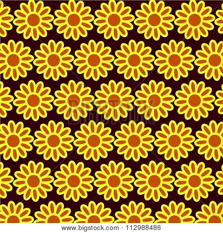 Seamless spring background with chamomile.