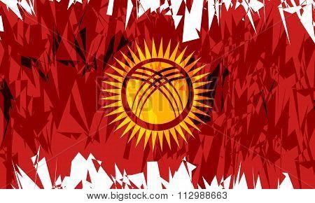 Flag Of Kyrgyzstan.