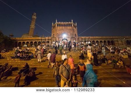 Jama Masjid By Night, Delhi, India