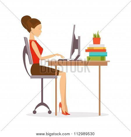 Correct Posture. Vector Illustration