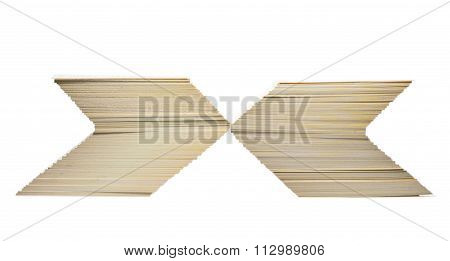 Blank Cards Stacked In X-sign
