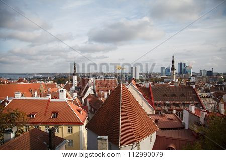 View of Tallinn from the top.