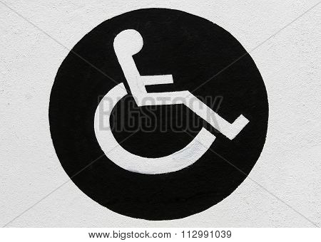 Disabled Parking Sign, Displaying A Wheel Chair