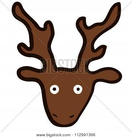 Face of a crazy deer
