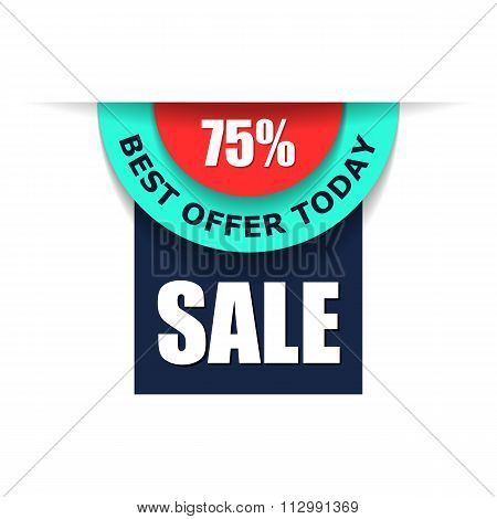 75 sale advert flat illustration