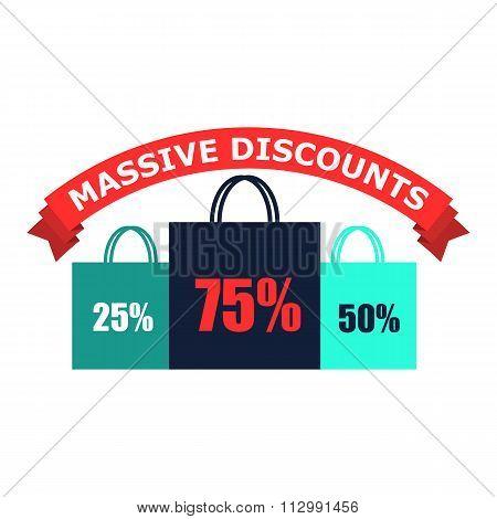 Discounts flat icon