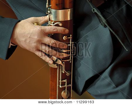 bassoonist on chamber music concert