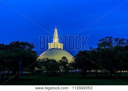 Big Buddhist Stupa At Anuradhapura In Sri Lanka