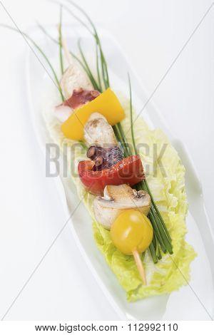 Shish Kebab From An Octopus