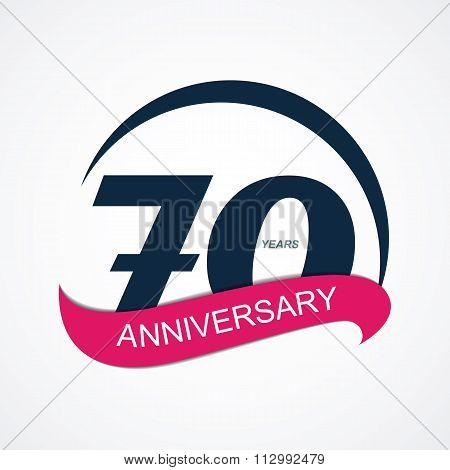 Template Logo 70 Anniversary Vector Illustration