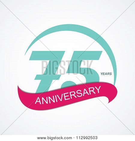 Template Logo 75 Anniversary Vector Illustration