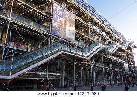 The George Pompidou Center, Paris, France.