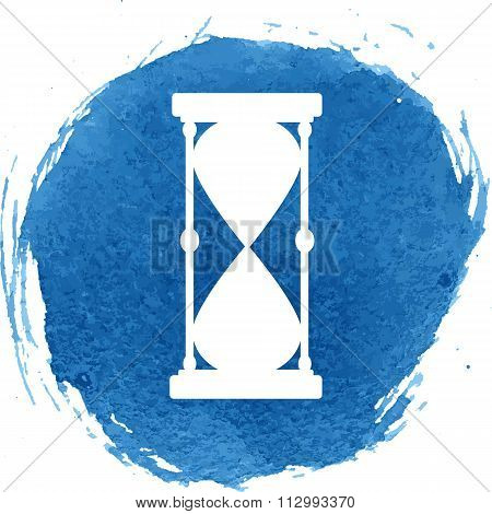 Hourglass icon with watercolor effect