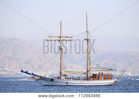 Sail Boat On The Red Sea