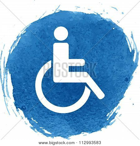 Disabled icon with watercolor effect
