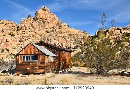 JOSHUA TREE, CALIFORNIA - JANUARY 1, 2016: School House at Keys Ranch House. In Joshua Tree National Park Built by homesteader Bill Keys.