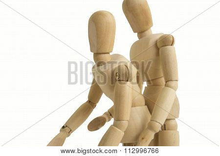 Wooden Figure Sex Man Woman Two Concept