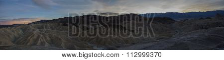 Death Valley National Park sunset panorama