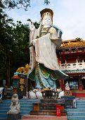 Guanjin Statue In A Park