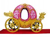 image of cinderella coach  - Pumpkin carriage for Cinderella or Halloween isolated over white background - JPG
