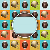 Vector Football Pattern Party Invitation poster