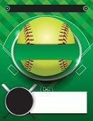 Vector Softball Tournament Template Illustration poster
