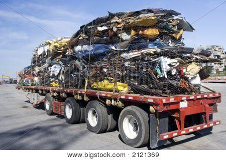 Truck Full Of Steel Scrap