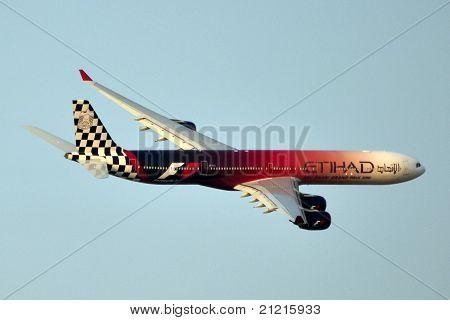 Formula 1 Etihad Airlines Plane