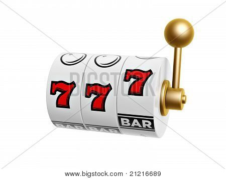 Slot Machine With Seven Sign