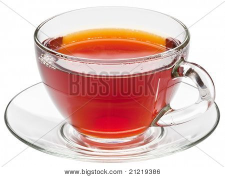 Cup of tea on a white background.