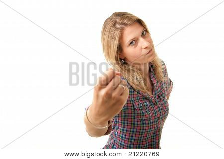 Angry Woman Fist