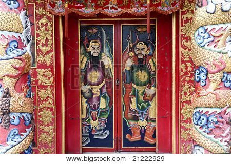 Chinese shrine gate.