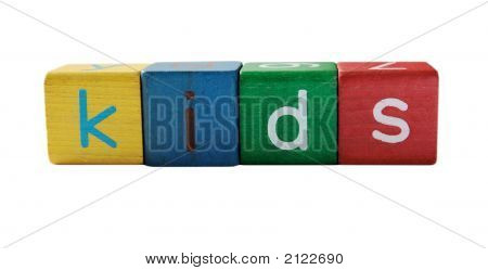 'Kids' In Children'S Blocks