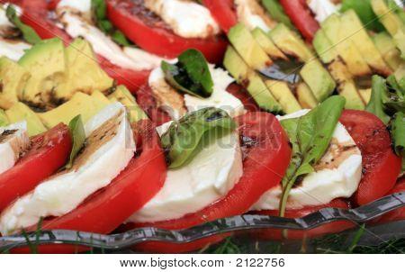 Tomato, Basil And Mozz Salad