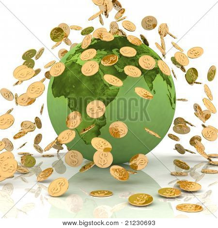 Falling chinks on earth. Conception of financing of environment