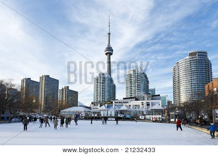 Ice-skating at Harbourfront