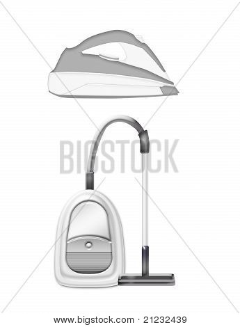 Flat Iron And Vacuum Cleaner