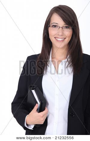 Businesswoman with agenda
