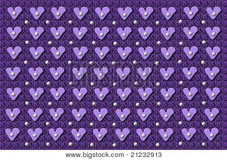 Quilt With Heart Buttons
