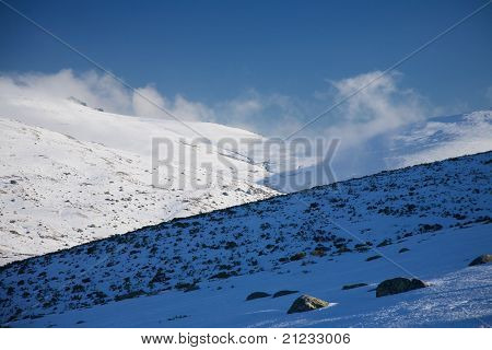 Clouds Over Snow Mountains