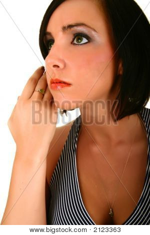 Woman Touching Her Smooth Face Skin