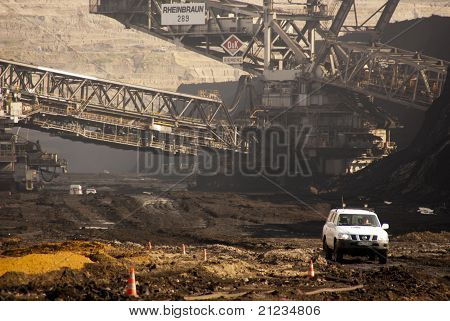 Bucket-wheel Excavator Digging In A Coal-mine