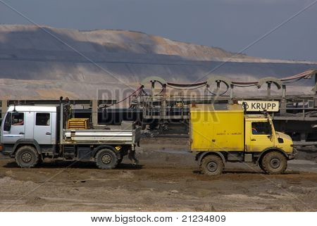 Transport Vehicles In Open-pit Mine